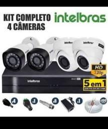 Kit completo Intelbras 4 cameras 1.399