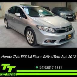 Honda Civic EXS 1.8 Flex + GNV Automático Teto Solar 2012