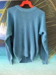 Suéter/casaco azul claro da C&A