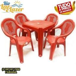 Jogo de mesa com cadeira Infantil- plástico