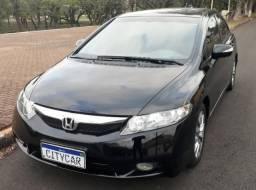 New Civic LXL Placa A Couro Automático Comando no Volante cambio Borboleta - 2011