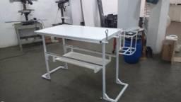 Mesa de Tosar com suporte secador (ferro)