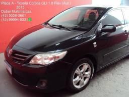 2013 - Toyota Corolla GLi 1.8 Flex (Aut.) (Couro) - Periciado - Placa A - 2013