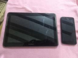 """Galaxy tab2 10,1"""" e Moto E4 16GB *Descrição"""