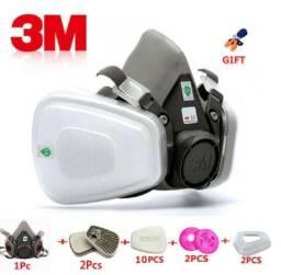 Máscara Respirador Pintura Kit 17x1 Modelo 6200 Completo 3m Com Brinde