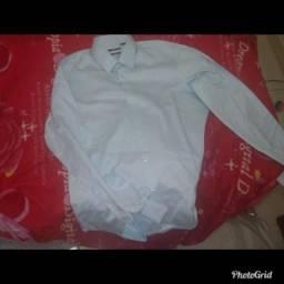 Camisa social Hugo Boss azul clarinho original imp 2c8614b0565e3