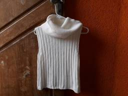 2979284936 Blusa de tricô sem manga com gola de cachecol da marca La Rossi tamanho 36
