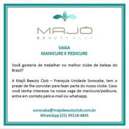 Manicure com experiência, contrato por comissão de 2f à Sáb das 8h às 19h