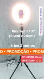 "Ring Light 10"" com tripé 2m"