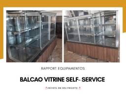 Balcão vitrine self-service