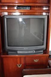 Televisão / TV Sony Trinitron Cinza 21 polegadas (Para revisão) 60cm x 65cm x 45cm
