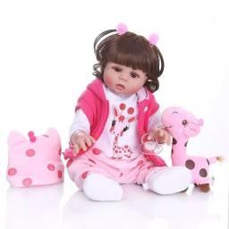 Boneca bebê Reborn NPK Original girafinha 48 cm 100% silicone NOVA Pronta entrega