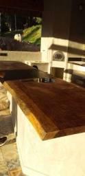 Pranchas com borda natural diversos tamanhos para balcão, cuba, bancada e decoração