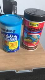 Ração importada para aquário marinho