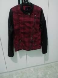 Jaqueta A/k Jeans Vermelha