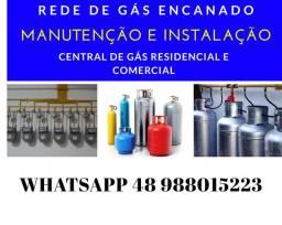 Rede de GÁS ENCANADO residencial e comercial , central de GÁS ENCANADO