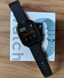 Smarth wacth P8 colmi preto relógio inteligente