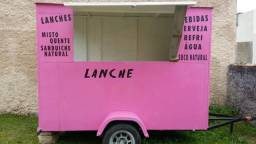 Trailer Comercial (Food Truck; Carrinho comercial) com suporte para reboque - Laguna/SC