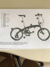 Bicicleta Dahon dobrável novinha em folha e com diversos acessórios