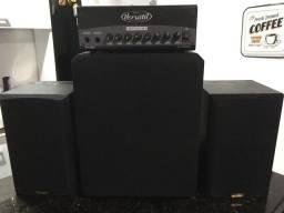 Amplificador/subwoofer/caixas de som