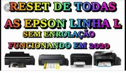 Reset geral para impressoras epson, canon e hp