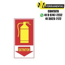 Título do anúncio: Placa Fotoluminescente Extintor Unidade