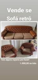 Vendo sofá retrô
