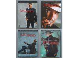 Coleção DVD Justified - 1ª 2ª 3ª 4ª Temporadas (12 Discos)