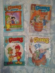 Gibis Chaves & Chapolin - Ed 1, 2, 4 & 8 - Faço ML.