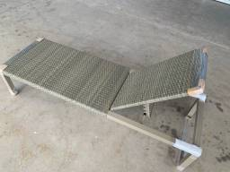 Espreguiçadeira em alumínio e fibra sintética NOVA