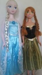 Bonecas raras  Anna  e Elza Frozen meu tamanho real Princesa Disney