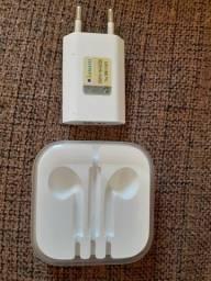 Fonte cabo USB e caixa dos fones (vazia), originais dos Ipad, IPhone.