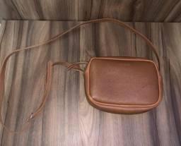 Bolsa Anacapri couro marrom