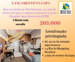 Lançamento na Vila Romana - 1 dormitório com sacada - 207 mil