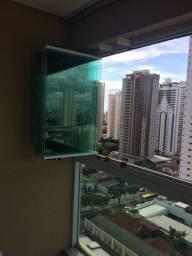 Manutenção em cortinas de vidro
