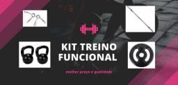 Anilhas, kettlebell, barra musculação kit treino - treinamento