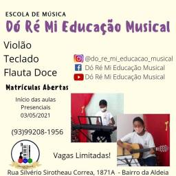 Aulas de Teclado e Violão na Dó Ré Mi Educação Musical