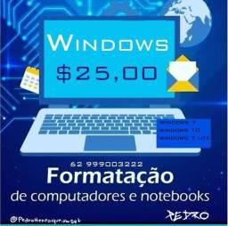 Formatação e Ativamento de Windows