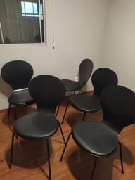 Jogo de 5 cadeiras pretas para sala de jantar