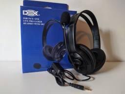 Fone de ouvido gamer para ps4 xbox one e celular novo na caixa