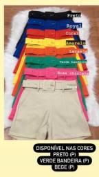 Shorts disponíveis em tecido Alfaiataria