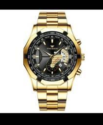 Relógio de Luxo FNGEEN Masculino Quartzo à prova d'água