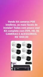 Kit 06 cameras POE Intelbras