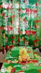 Jogo de cortina e lençol, infantil