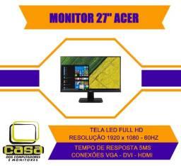 "Monitor 27"" Acer LED Full HD-HDMI-DVI-VGA-60hz"