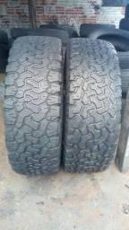 Par pneu 265 75 16 bf Goodrich bom estado.400 reais.