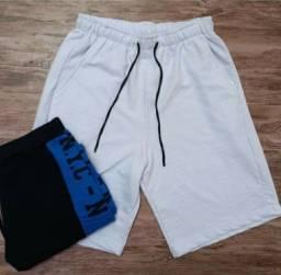 Kit com 10 shorts moletom