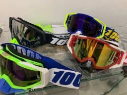 Óculos 100% para capacete de moto