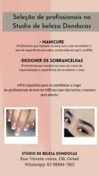 Vagas para Manicures e Design de sobrancelhas