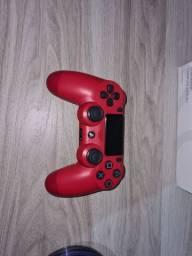 Controle ps4 vermelho semi novo